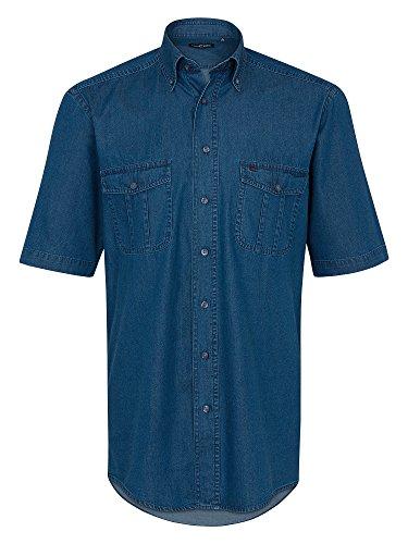 CASAMODA Herren Jeanshemd 100% Baumwolle Auch Große Größen Blau