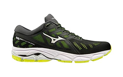 Mizuno Wave Ultima 11, Scarpe Running Uomo, Nero (Black/White/SafetyYellow 01), 42.5 EU