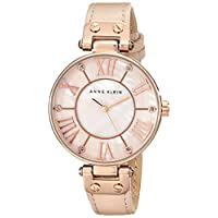 Anne Klein Dress Watch For Women Analog Leather - 10-9918RGLP