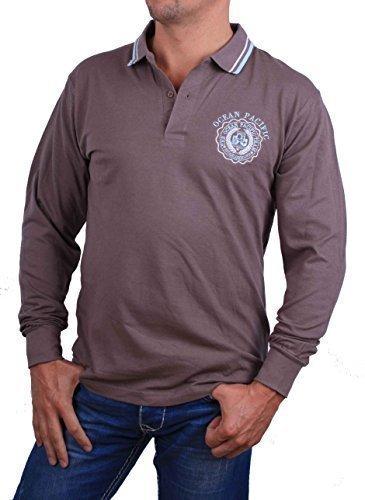 ocean-pacific-herren-poloshirt-polo-shirt-l-braun