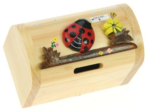 Coccinella: Il denaro salvadanaio box per bambini e...
