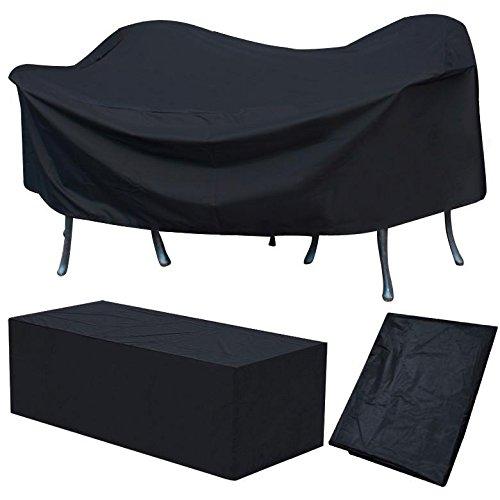 Yaheetech Schutzhülle Abdeckplane für Gartenmöbel Abdeckhaube Abdeckung 240 x 136 x 88 cm, schwarz