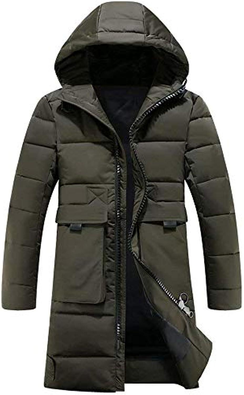 Adelina Cappotto con Manica Cappuccio da Lunga Uomo Manica con Coat con  Tasche Frontali con Cernie 36651b75d9e