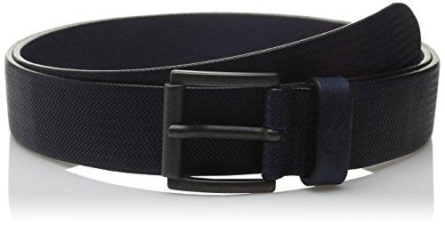 tommy-bahama-mens-belt-herringbone-embossed-1102tm0062-size-42-navy-leather