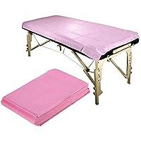 10 piezas 180 * 80cm no tejidas desechables sábanas a prueba de agua masaje belleza cubierta(Rosa)