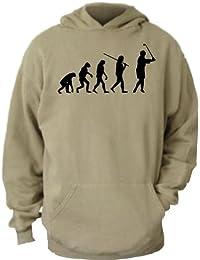 ShirtInStyle Kapuzenswaetshirt EVOLUTON STUFF Evolution Golfer Golf Golfen