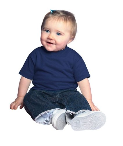 Infant Cotton Jersey T-Shirt NAVY 6MOS