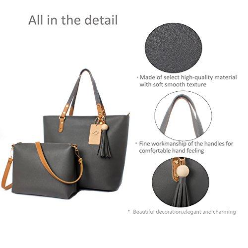 La Desire Borsa a tracolla casuale dell'unità di elaborazione della borsa della spalla di Tote del sacchetto di Hobo della borsa di Tote per le donne cachi