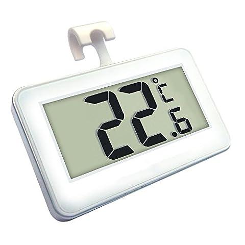 Thermomètre de Frigo Electronique, Skitic LCD Digital Thermomètre Congélateur Étanche sans fil Réfrigérateur Plage de Mesures Etendue Allant de -20°C/-4°F - 60°C/140°F Parfait pour la Maison, les Restaurants, Bars et Cafés
