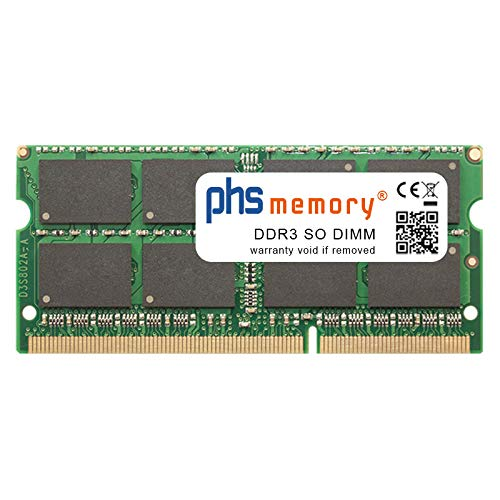 Foto PHS-memory 8GB RAM modulo per ASUS N56VZ-S4035V DDR3 SO DIMM 1600MHz