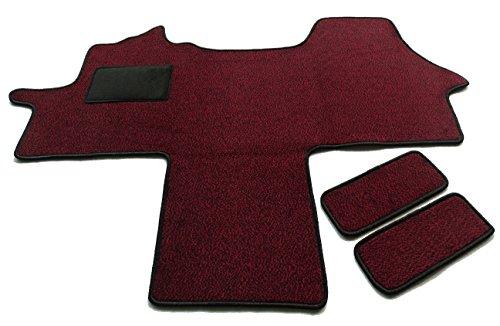 Fahrerhaus Teppich & Einstiege 3-teilig Schmutzfangmatte in ROT -