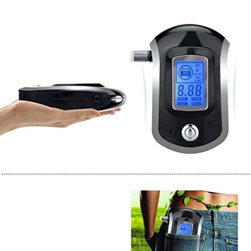 Alkoholtester, LESHP Professionelle Atemalkohol-Tester Analyzer Detector Atemalkohol-Tester mit LCD Display & 5 Mundstücke - 4