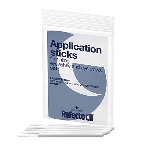 RefectoCil Färbestäbchen (10 Stück) Mischen und Auftragen von Augenbrauenfarbe, Weiß-Weich