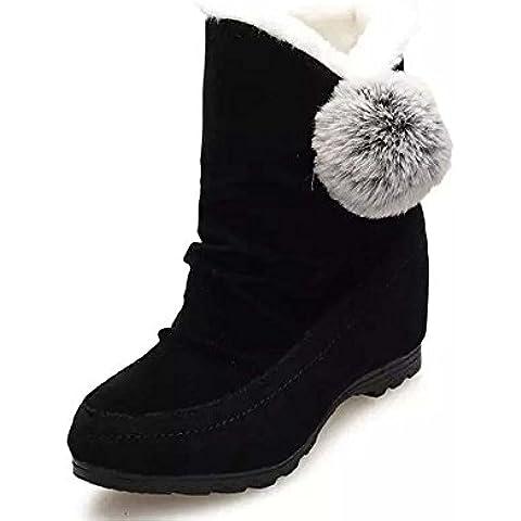 SHIXR Ladies nuova inverno stivali palla di pelo aumenta boot