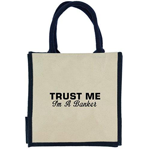 trust-me-i-m-a-banker-in-schwarz-print-jute-midi-einkaufstasche-mit-marineblau-griffe-und-rand