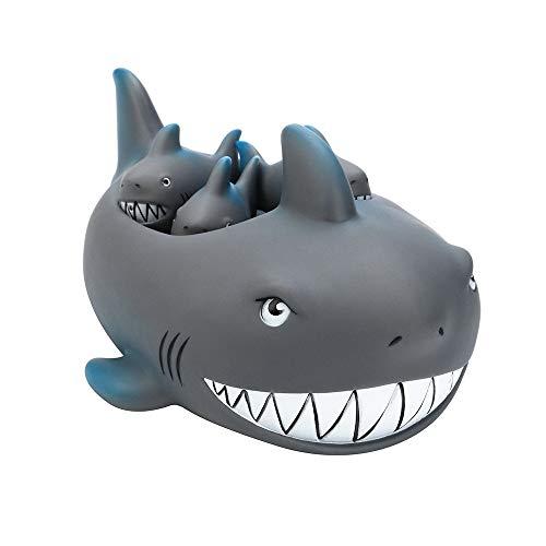 Fliyeong Premium-Qualitäts-Spielzeug für 3 4 5 6 7 8 9 + Jahre alt Kinder Mädchen Jungen, Shrilling Rubber Cute Shark Familie Badewanne Pals Schwimmende Badewanne Spielzeug für Kinder - 5 Für Mädchen Alt-spielzeug Jahre