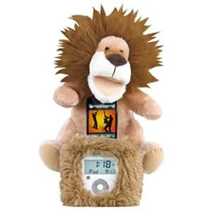 Ozaki iMini Pet Enceintes avec radio réveil avec peluche dansante lion Max pour iPod/iPhone Brun