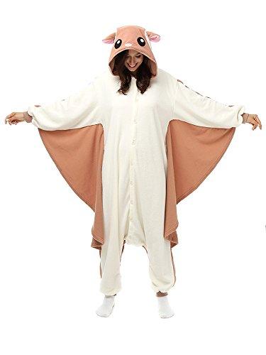Imagen de pijamas mujer hombre disfraces anime cosplay ropa de dormir franela de una pieza, murciélago xl
