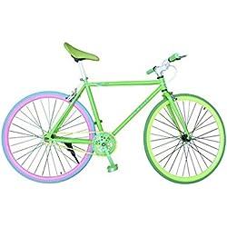 """Wizard Industry Helliot Soho 5306 - Bicicleta fixie, cuadro de acero, frenos V-Brake, horquilla acero y ruedas de 26"""", multicolor"""