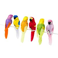 Talking Tables Fiesta Tropical Clip On Birds 6Pk, Metal, Multicolour, 17x14.5x4 cm