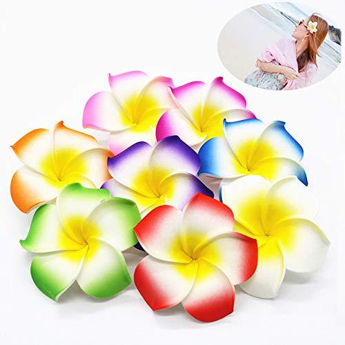 10teilig Hawaiian Hair Blumen Strand Hawaii Haar Clip 6,9cm (mehrere Farbe)
