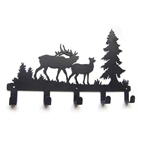 Joeesun Original Tier Elch Design Metall Wandhalter Dekorative Kleiderhaken Kleiderhaken Kleiderhaken @ schwarz -