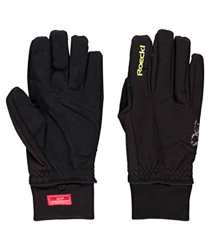 Roeckl Erwachsene Rossa Handschuhe, Schwarz/Gelb, 8.5