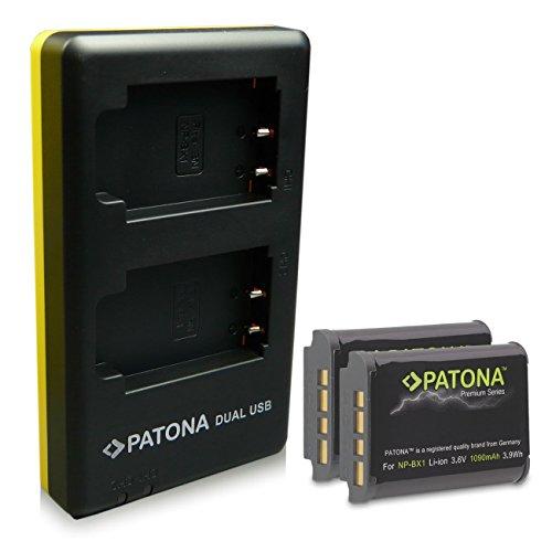 PATONA 2in1 Dual Cargador + 2x Premium Batería NP-BX1