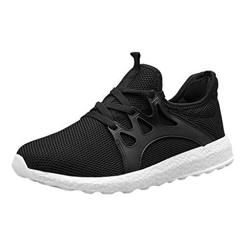 MERICAL La mode des hommes occasionnels Mesh Lace Up Sport solide chaussures de course Chaussures de sport légères
