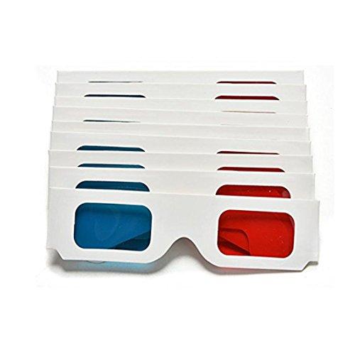 10x Milopon 3D Brille 3D Glasses Rote Blau Papier 3D Brille 3D Glasses 410*41mm