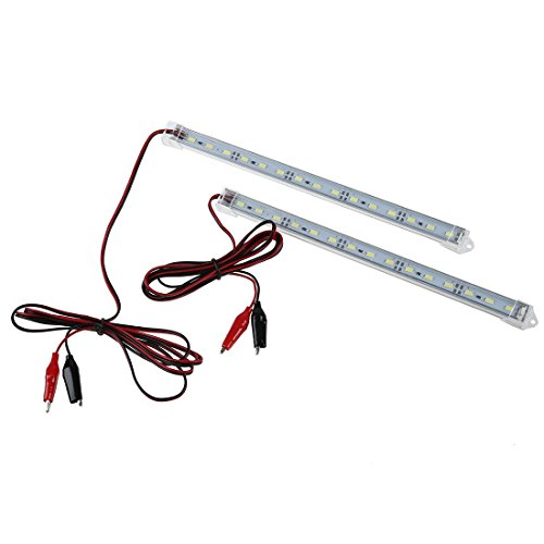 LED Streifen - TOOGOO(R)2 Stueck 12V Auto 15 LED 5630 SMD Innenbeleuchtung Streifen Lampe Bar Van Caravan Fisch Tank