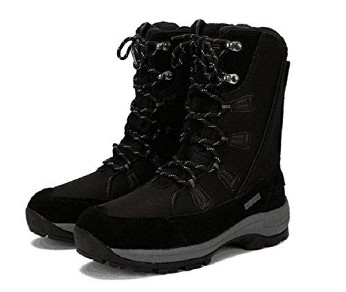 Roadmark Women Winter Snow Boot Waterproof Anti Skid Mountaineering Boots EU37.5 Black