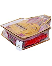 Kuber IndustriesTM Blouse Cover in Heavy Transparent Material (Golden)