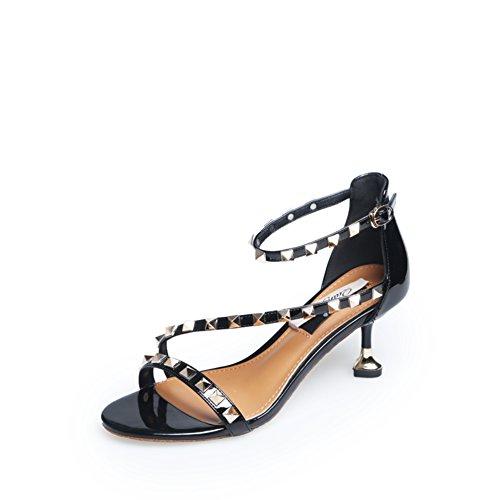 Lady,Summer,Rivet,Open-toe Sandals/Talons Minces,Une Boucle,Talons Hauts A