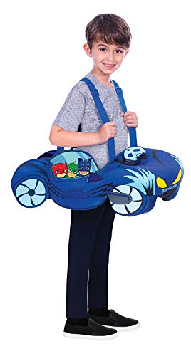 Charakter Für Jungen Kostüm - Fancy Me Kinder Jungen Mädchen Offizielles PJ Masken Ride On Catmobile Auto TV Buch Film Show Charakter Kostüm Kostüm Outfit 3-8 Jahre