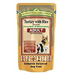 James Wellbeloved Adult Dog Turkey & Rice Pouches 10 x 150g