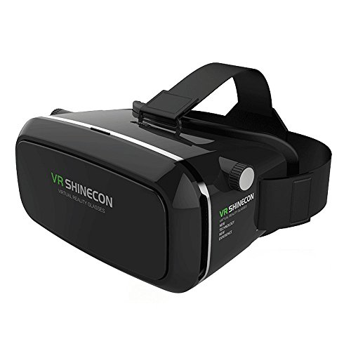 Virtuelle Realität Headset, 3D VR Brille, Virtual Reality Box, VR Kopfhörer für 3D Film Video Gaming, Kompatibel mit Android iOS und Anderen 3.5\'\'-6.0\'\' Smartphones