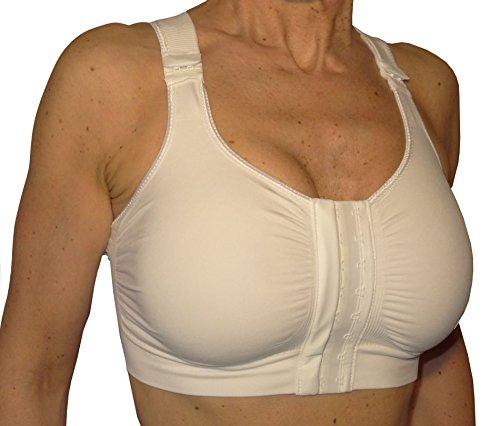 KompressionsBH Brustvergrößerung, Nach chirurgischen eingriffen BH - Weiß Größe S