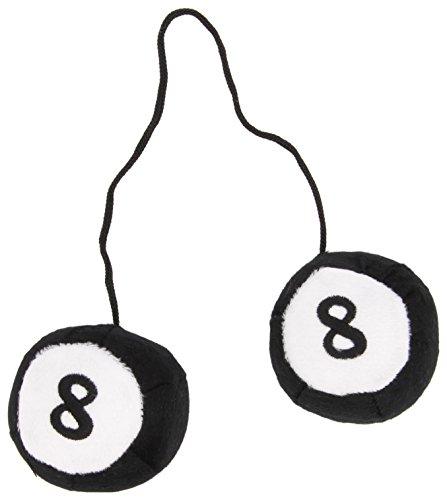 8 Ball T-stücke (Sumex BILLA20 Autodekoration Billardkugel schwarze 8, 8,5 cm, 2 Stück)