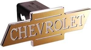 Defenderworx 30025 Chevy - Gold - Chevrolet inscrit - D-coupe Bowtie - 2 po Hitch Cover Billet