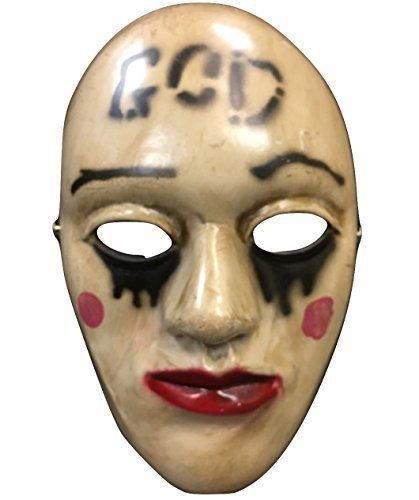 t' Film Halloween Maske Glasfaser Deluxe Cosplay Universalgröße mit verstellbar Schnalle (Purge-maske Halloween)