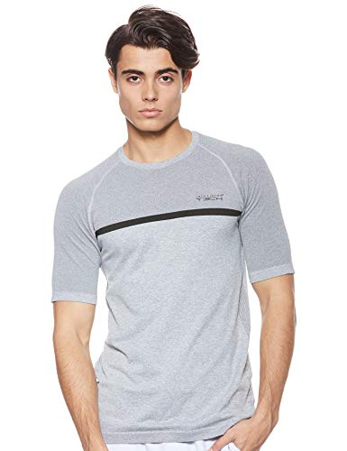 Under Armour Men's HeatGear Short-Sleeve Compression T-Shirt Gym Top Fabric, Carbon Heather/Black (090), M