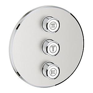 Grohe Grohtherm Smartcontrol – Bundle Smartcontrol – Conjunto termostato, Ducha Mural cuadrada 310 y alcachofa móvil…