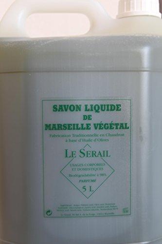 Bidon de 5 litres de savon de Marseille liquide - Fabrication artisanale. (Savon à l'huile d'olive parfumé)