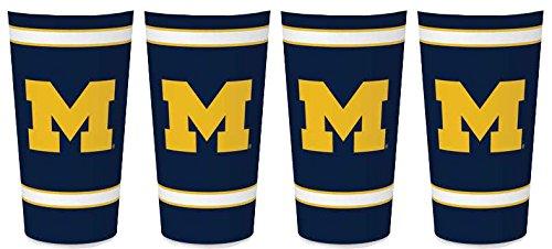 Whirley Drink Funktioniert NCAA Michigan Wolverines 907Single Wand Thermobecher 4Stück -