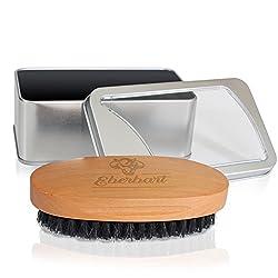 Eberbart Bartbürste mit 100% Wildschweinborsten inkl. Transportbox + Gratis-eBook – Ideal für die tägliche Bartpflege