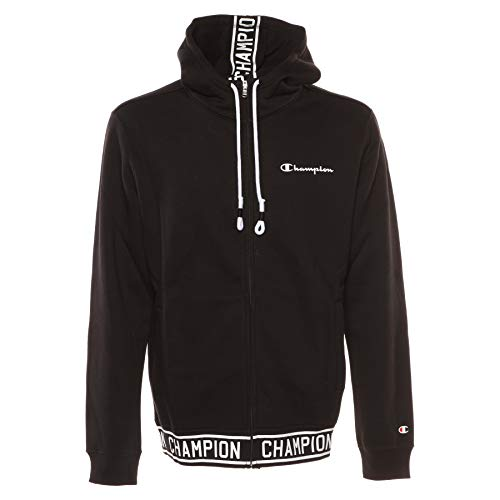 Champion Logo Full Zip Hoody Jacke (XXL, Charcoal)