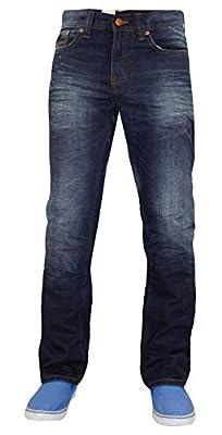 New Mens Designer Firetrap Jeans 100% Cotton Straight Leg Fit Denim Trousers Pants