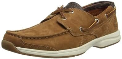 Timberland Unisex Adults' Ekhullcov 2eye Red B Medium Brown Loafers Brown Size: 8.5