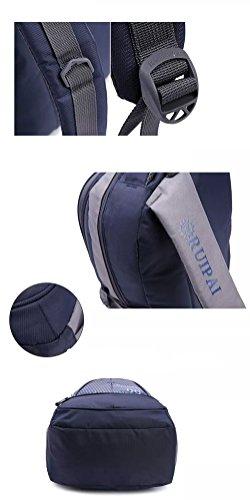 Leefrei Schulrucksack Schulranzen Schultasche Sports Rucksack Freizeitrucksack Daypacks Backpack für Mädchen Jungen & Kinder Damen Herren Jugendliche mit der Großen Kapazität (Vintag-Blau2) - 3